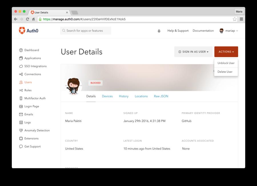 Unblock a User
