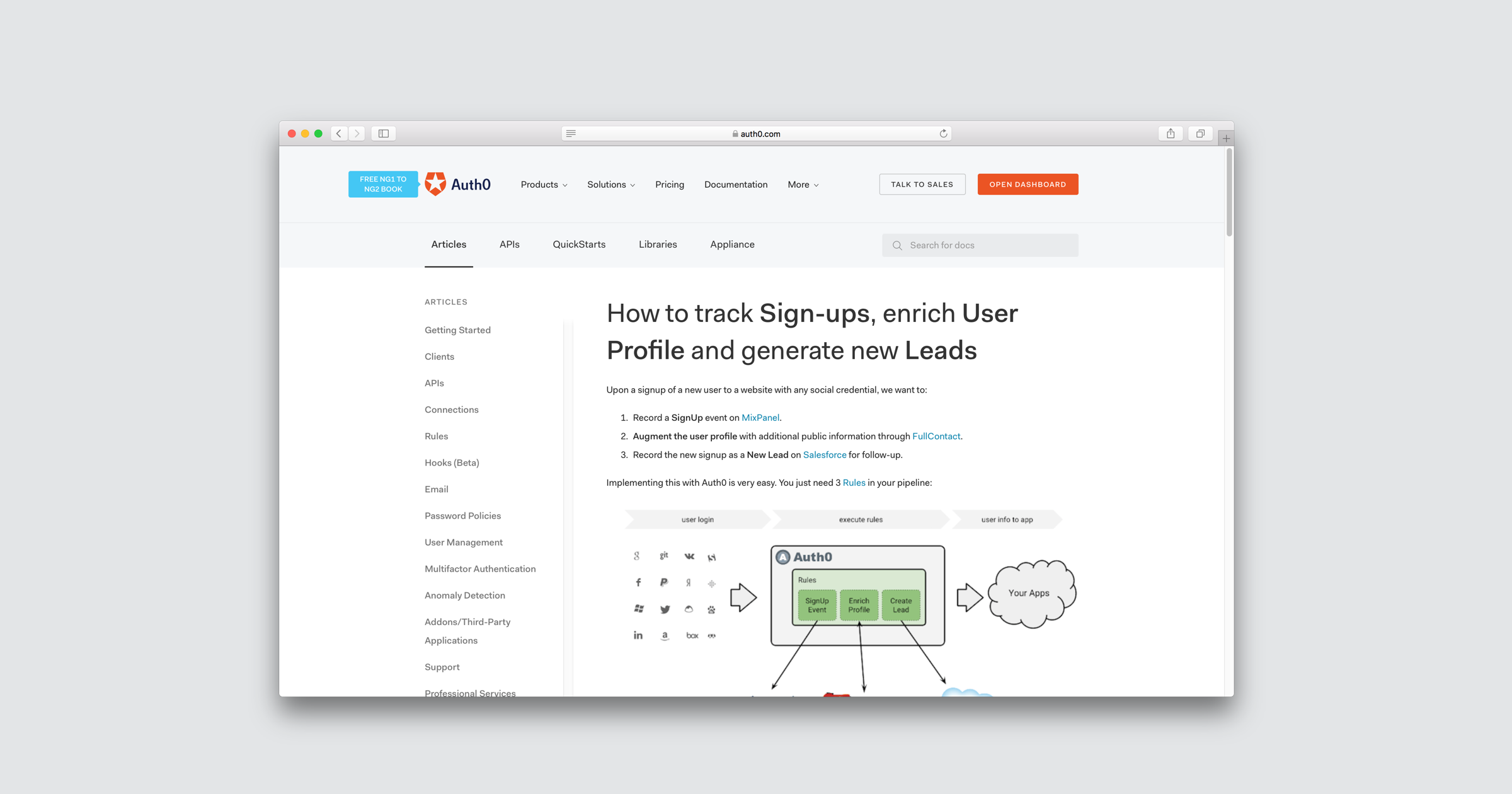 How to track signups
