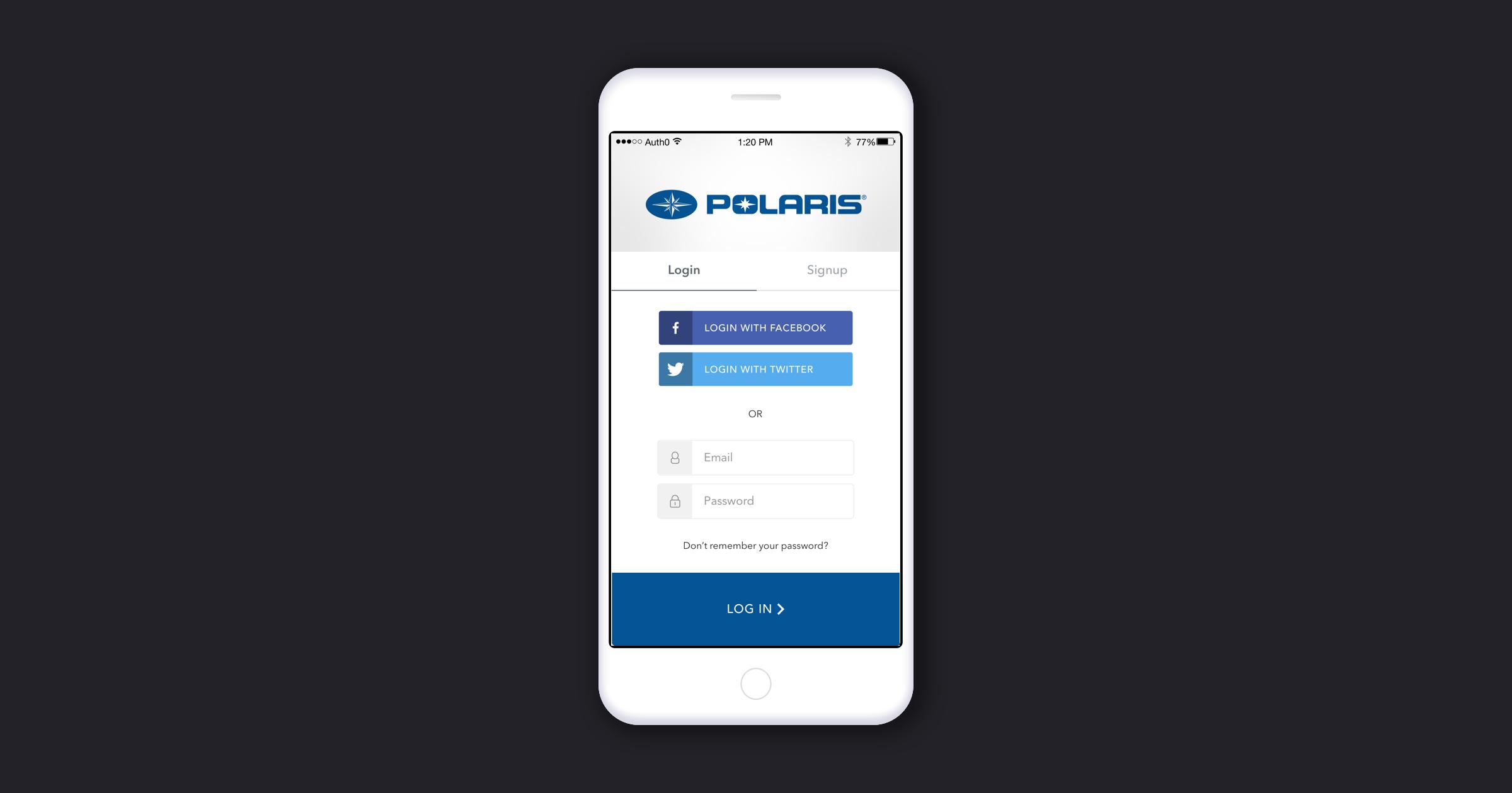 Polaris Auth0 Lock